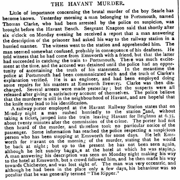 An article from the St james Gazette detailing arrested suspects.