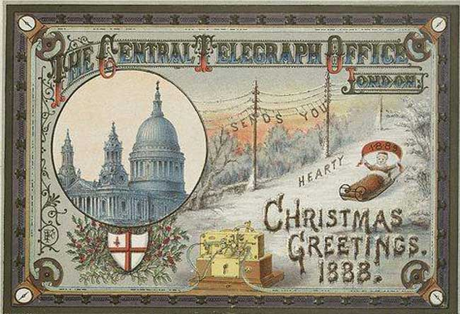 An 1888 Christmas Card.