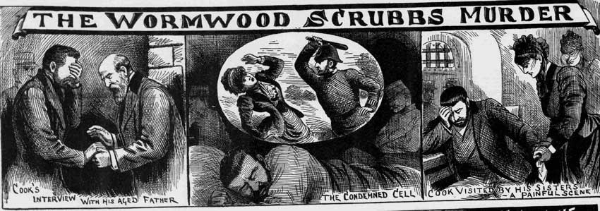 Depictions of Cooke saying goodbye to his father and his sisters and dreaming about the murder.