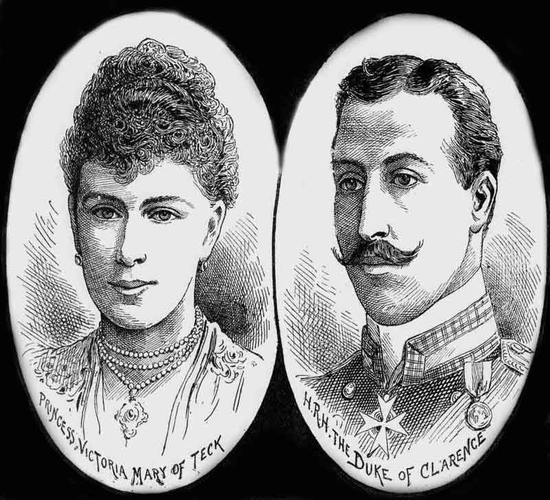Portraits of Prince Albert Victor and Princess Victoria.
