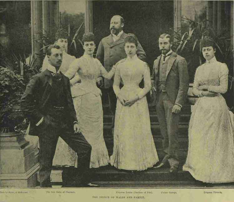 A photograph showing the Prince of Wales and his family, including Prince Albert Victor.