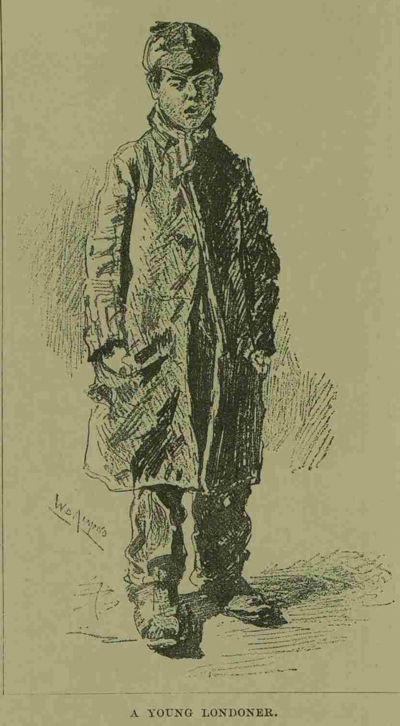 A illustration of a young Londoner.