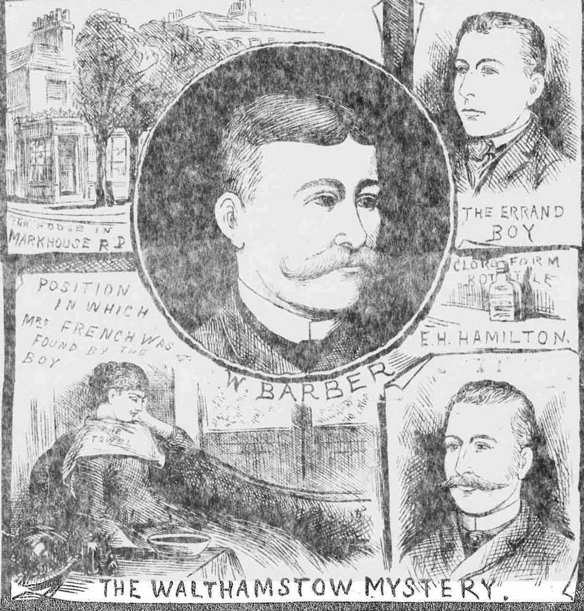Illustrations depicting the so-called Walthamstow Mystery.