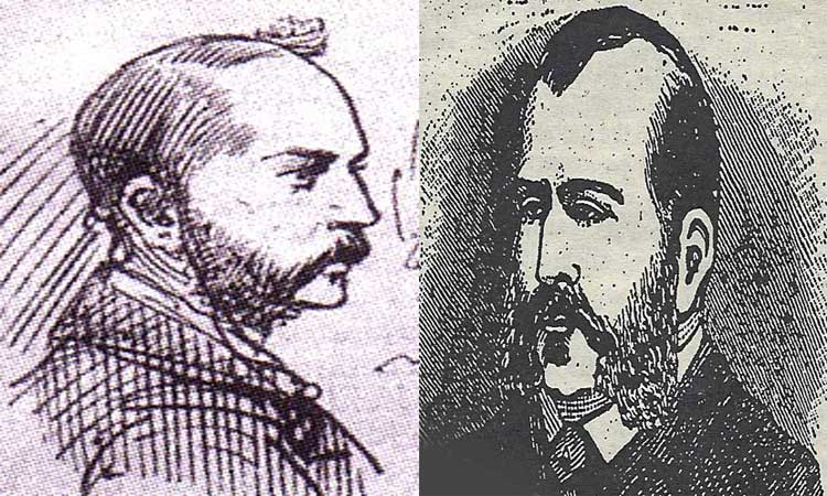 Portraits of Abberline (left) and Helson (right).