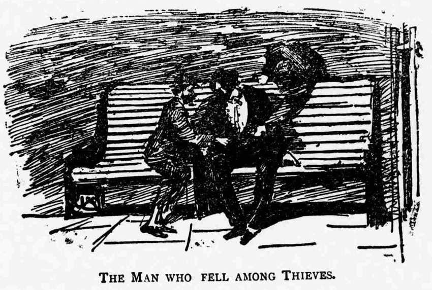 A man being pick pocketed.
